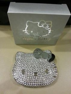 Limited Hello Kitty Bling Makeup Compact Mirror! Brand New In Box!