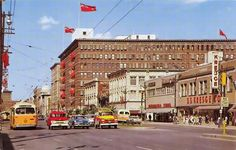 Old Postcard - Portage Avenue, Winnipeg - Old Postcards, Continents, Storytelling, Past, 1950s, Street View, Canada, Explore, History