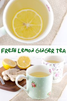 This step-by-step guide on how to make fresh lemon ginger tea is quick and easy plus, this tea is delicious and good for you!