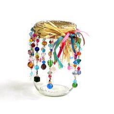 Perlés Mason Jar Candle titulaire Hippie Bohème luminaire Patio arrière-cour pont Summer Party cadeau d