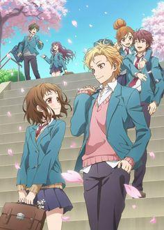 Manga Couple Itsudatte Bokura no Koi wa 10 cm Datta. Couple Anime Manga, Couple Amour Anime, Manga Anime, Girls Anime, Anime Love Couple, Cute Anime Couples, Romantic Anime Couples, Anime Shojo, Shoujo