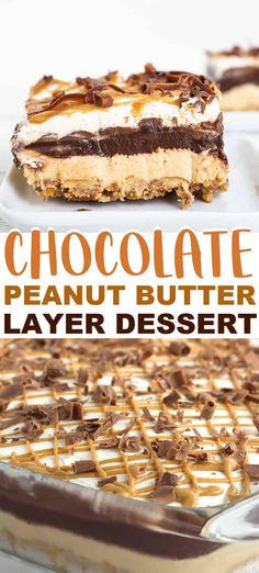 This rich chocolate peanut butter layer dessert recipe will do the trick. The sweet and salty pretzel crust is amazing! Peanut Butter Oat Bars, Chocolate Peanut Butter Fudge, Peanut Butter Desserts, Peanut Butter Cheesecake, Chocolate Desserts, Chocolate Pudding, Peanut Butter Cake Balls Recipe, Peanut Recipes, Layered Desserts