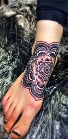 Mandala food tattoo