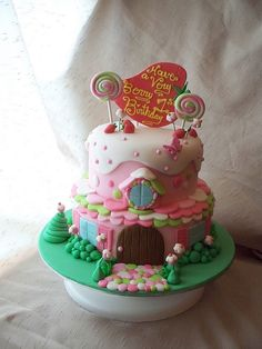 Strawberry Shortcake's house cake by Andrea's SweetCakes, via Flickr