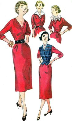 1950s Dress Pattern Simplicity 4367 Day or Evening by paneenjerez, $20.00