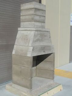 The Bones Of A Contractor Series Outdoor Fireplace Kit By