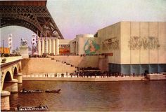 Pavilions for Canada and Great Britain Exposition Internationale Paris 1937 #WorldsFair #Expo2015 #Milan #Paris1937