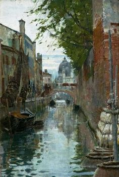 Church of Santa Maria della Salute, Venice, 1885 👨‍🎨 William Logsdail May 1859 – 3 Sep was a English painter. Art Aquarelle, Watercolor Paintings, Venice Painting, Santa Lucia, Art Uk, Your Paintings, Painting Inspiration, Photos, Pictures