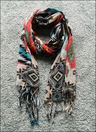 Love this tribal scarf.