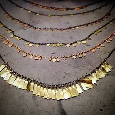Sia Taylor necklaces in gold and silver