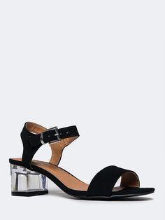 Clear Low Heel Sandal