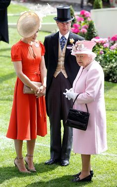 Crown Princess Mary of Denmark, Prince Edward, Earl of Wessex and Queen Elizabeth II attend day 2 of Royal Ascot at Ascot Racecourse on June 15, 2016 in Ascot, England.