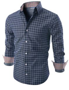 $27.99 Doublju Mens Long Sleeve Printed Check Denim Shirt (KMTSTL0139)&url=http://www.doublju.com/doublju-mens-long-sleeve-printed-check-denim-shirt-kmtstl0139