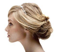 wedding updo with headband