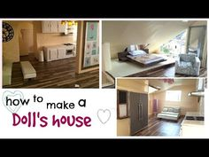 DIY: modern barbie doll house (recycled cardboard box) & diy furniture - YouTube