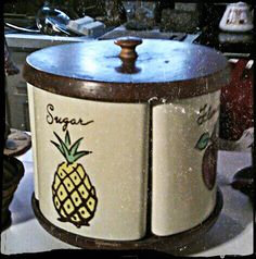Vintage Canister...Watt pottery canister set