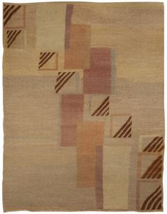 A French Deco Rug BB5053 - A French Deco Rug with a classic geometric design...