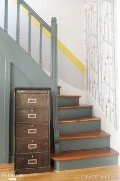 Rénovation en couleurs d'une maison familiale à Saint-Ouen, Espaces à Rêver - Côté Maison
