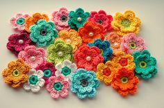 https://flic.kr/p/dTv8BP   work in progress feb 13   selection of crochet applique I made this week