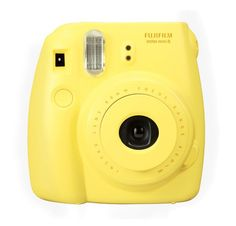 Yellow instax mini 8s by Fujifilm, this cute camera automatically can determined a light brightness for taking a picture. Since it's easy to use just snap and the photos come up, perfect to capture every moment, it has a flash. http://www.zocko.com/z/JIKT6