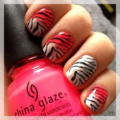 Zebra stamping : neon & holo