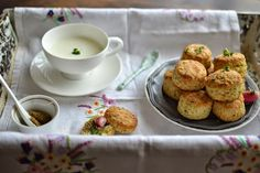 A Kingdom for a cake: Cottage Cheese and Herbs Scones