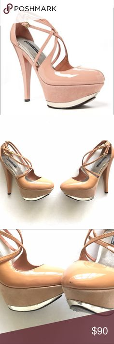 Nude Adrienne Maloof beautiful heels Nude Adrienne Maloof beautiful heels. Small mark on the toe of right heel. As shown Adrienne Maloof Shoes Heels