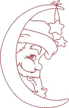 Santa in the Moon Embroidery Designs, Machine Embroidery Designs at EmbroideryDe… Santa in the Moon Embroidery Designs, Machine Embroidery Designs at EmbroideryDesigns… Christmas Rock, Christmas Colors, Christmas Crafts, Xmas, Christmas Drawing, Christmas Paintings, Machine Embroidery Designs, Hand Embroidery, Quilting Designs