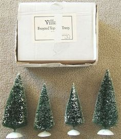 Look what I found on @eBay! http://r.ebay.com/AvZosS DEPARTMENT 56 VILLAGE FROSTED TOPIARY CHRISTMAS TREES Includes 4 TREES and BOX