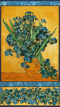 Vincent Van Gogh by Van Gogh Museum: Cotton Novelty Print Fabric: Robert Kaufman Fabric Company.