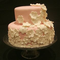 Blooming Birthday Cake (Girl) by wickedcakechick, via Flickr
