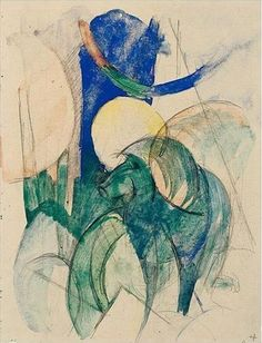 Franz Marc (1880-1916) Mandrill 1913 (22 x 16,7 cm)