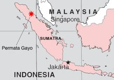 Map showing the Gayo region in Northern Aceh where prized Sumatra Gayo Coffee Beans are grown! http://coffeeroastinghacks.com/sumatra-gayo-coffee/