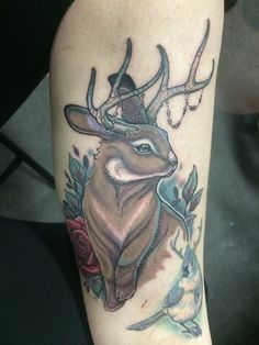 FYeahTattoos.com — Jackalope done by Autumn Dancer at Capital Tattoo...
