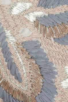 Suno Embroidered cotton skirt. Detail of embroidery