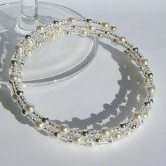 Elegant and pretty memory wire bracelet