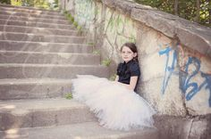 Long white and ivory tutu, flower girl tutu, wedding tutu, dance tutu, ballet tutu, ballet skirt, childrens tutu, newborn tutu