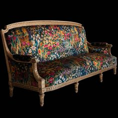 Gilded Sofa, England, circa carved frame with original paint, upholstered in Liberty of London fabric Dream Furniture, Funky Furniture, Handmade Furniture, Unique Furniture, Furniture Makeover, Vintage Furniture, Furniture Design, Reupholster Furniture, Diy Sofa