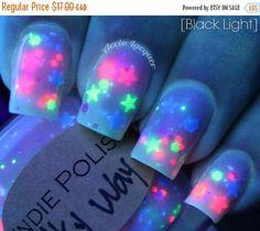 sale UV reactive Nailpolish Milky way FREE by IndiePolish