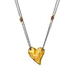 Look what I found at UncommonGoods: chunky gold heart necklace... for $198 #uncommongoods