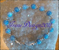 Handmade Silver Jewelry Set with Blue by IreneDesign2011 on Etsy
