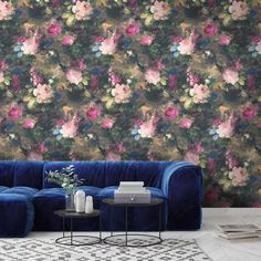 Our take on the 'Dutch Masters' moody floral look. Ava Marika is a dark, expressive floral originating from Lancashire with rouge red and blush pink flowers SHOP NOW Wallpaper Samples, Print Wallpaper, Wallpaper Roll, Eclectic Design, Interior Design, Floral Artwork, Design Repeats, Little Designs, Designer Wallpaper