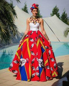 DKK African fashion Ankara kitenge African women dresses African prints A African Wedding Dress, African Print Dresses, African Dresses For Women, African Attire, African Wear, African Fashion Dresses, African Women, African Prints, Ghanaian Fashion