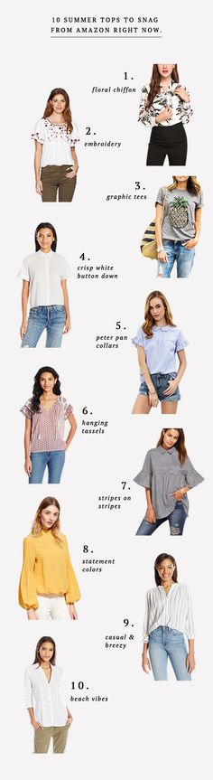 10 tops to shop on A