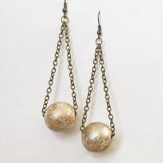 DIY these elegant drop earrings from cheap and easily sourced materials. Check it out!