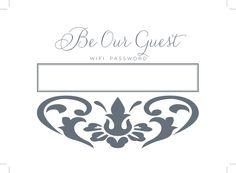Printable wifi password sign