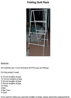 PVC Folding quilt rack