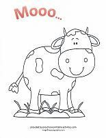 mama cow and baby cow coloring sheet which is great for the theme