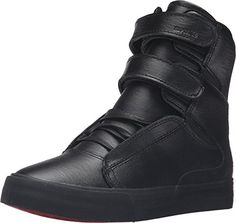 7310f53ee36181 Supra Women s Society II Black Black Red Sneaker 5.5 B (M..