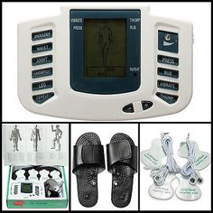 Electrical+Stimulator+Full+Body+Relax+Massager+Pulse+Acupuncture+Therapy+Slipper